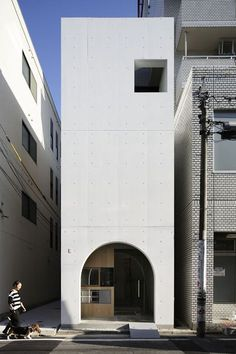 Basset Cafe in Hiroshima City, Japan Concrete Architecture, Minimal Architecture, Facade Architecture, Beautiful Architecture, Contemporary Architecture, Concrete Facade, Architecture Interiors, Facade Design, House Design
