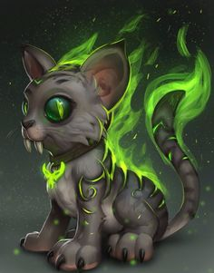 Fel Kitty, Tyson Murphy on ArtStation at https://www.artstation.com/artwork/kBZJ6