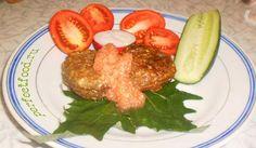 Котлеты из баклажанов с пикантным соусом