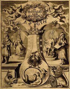 Колба герметистов, или атанор, сосуд для «Великого делания», является образом Мирового Яйца, сердца как места зарождения духовного принципа в человеке, а также пещеры (символизирующей, в свою очередь, Космос). Алхимические символы Серы, Ртути и Соли соотносятся, соответственно, с «Духом» (сверхформальное, внутреннее), «Душой» (тонкоформальное, внешнее) и «Телом» (результат взаимодействия внутреннего «Духа» и внешней космической среды)