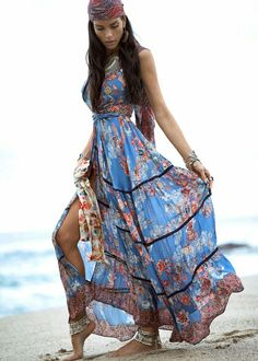 Bohemian spring outfit