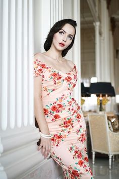 Stop Staring Bombshell Billionaire Wiggle Dress Blush Rose Coral Blue Ivory S-3X #StopStaring #Pencil #MidCenturyCocktail