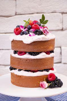 Mini Naked Cake de Coco com Creme de Framboesa – Bolo Pelado | Vídeos e Receitas de Sobremesas