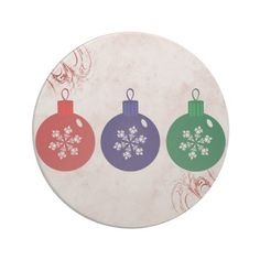 Christmas Baubles Coasters  #Christmas #Baubles #Coaster #Beverage