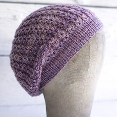 Manos del Uruguay Martine Hat -Somewhere between a slouch and a beret, the Martine Hat is worked in a delicate-looking stitch pattern that is nonetheless very easy to knit.