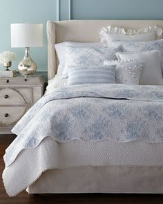 Rose Toile Bedding by Design Source at Horchow.