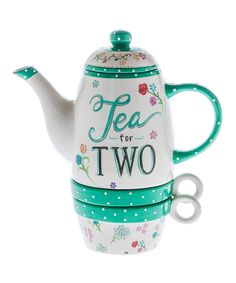Loving this Three-Piece Teapot & Teacup Set on Tea For One, My Cup Of Tea, Cute Teapot, Cool Mugs, Chocolate Pots, Tea Cup Saucer, Drinking Tea, Afternoon Tea, Coffee Cups