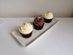 vanilla, lemon and chocolate cupcakes for the future married couple to try Chocolate Cupcakes, Mini Cupcakes, Cake Tasting, The Hamptons, Wedding Cakes, Vanilla, Lemon, Couple, Future