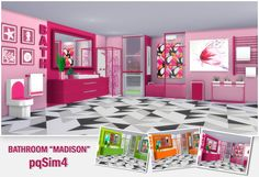 """Sims 4 CC's - The Best: Bathroom """"Madison"""" by pqSim4"""