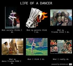 what people think dancers do