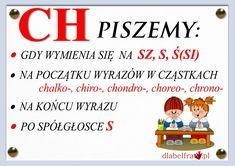 Plansze z zasadami ortograficznymi dla uczniów klas I-III | Dla Belfra Polish To English, Learn Polish, Aa School, Poland History, Polish Language, Our Kids, Teaching English, Study, Learning