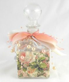 Pink Roses Perfume Bottle Nightlight from Roses and Teacup