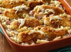 Parm encrusted chicken cordon bleu