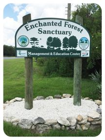 Entrance to the Enchanted Forest Nature Sanctuary