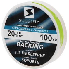 Superfly Performance Backing 100 Yards, 20 lb Test Chartreuse, Multicolor