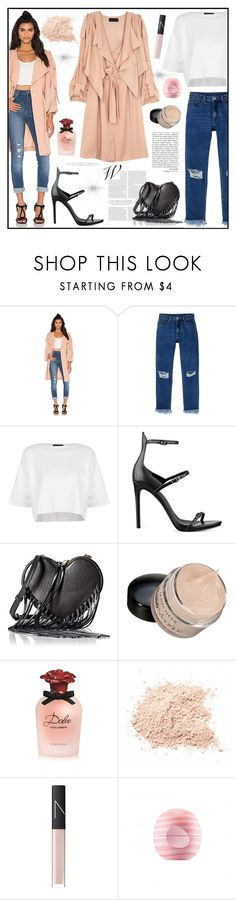 """Spring Style"" by gaby-mil ❤ liked on Polyvore featuring Kendall + Kylie, Monki, Topshop, Rebecca Minkoff, Dolce&Gabbana, NARS Cosmetics, Eos, Spring, kendall and Kylie"