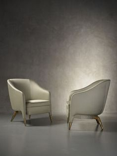 Rare and important pair of prototype armchairs mod. 593, circa. 1950, by Gio Ponti