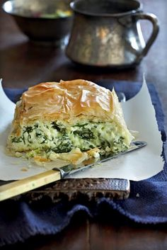 Creamy Spinach pie OMG I AM SO HYPOTHETICALLY HUNGRY RIGHT NOW!