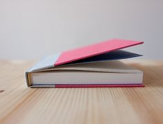 Small Pink and Grey Hardcover Notebook  Journal by knotbooks