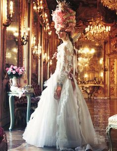 Vogue  Nippin Oct 2012. Modern day Marie Antoinette
