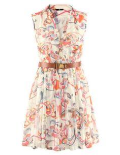 Knälång, ärmlös klänning i chiffong från Hm.com, 299 kronor.