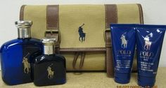 Polo Blue By Ralph Lauren for Men 4 Oz Gift Set by Ralph Lauren. $139.99. Polo Blue By Ralph Lauren for Men 4 Oz Gift Set. Ralph Lauren for Men. Polo blue for men. Polo Blue By Ralph Lauren. Polo Blue By Ralph Laurenfor Men 4 Oz Gift Set The freedom of the big blue sky, the energy of the open waters, an invigorating blast of fresh air. Polo Blue is a new definition of casual elegance with a refreshing blend of melon de Cavaillon, basil verbena and washed suede.  Travel the w...