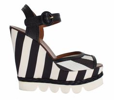 NWT $900 DOLCE & GABBANA Black White Platform Wedges Sandals Shoes EU41 /US9.5 8058349081251 | eBay