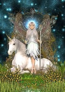 Crystal Fairy & Unicorn by magicalartz Unicorn And Fairies, Unicorn Fantasy, Unicorns And Mermaids, Unicorn Art, White Unicorn, Unicorn Pictures, Fairy Pictures, Magical Creatures, Fantasy Creatures