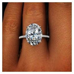 2.00 Ct Natural Oval Cut Pave Diamond Engagement Ring GIA Certified |... liked on Polyvore featuring jewelry rings pave diamond engagement rings wedding rings oval stone ring wedding jewellery and pave set diamond ri
