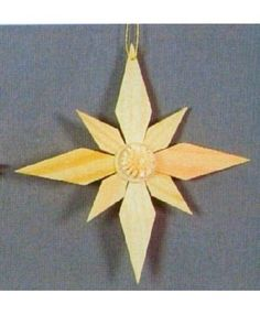 4.3 Inch Wooden Star German Christmas Ornament Wood Yard Art, German Christmas Ornaments, Wooden Stars, Wooden Ornaments, Craft Ideas, Cards, Germany, Maps, Playing Cards