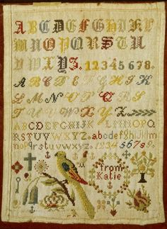 This sampler, undated during the second half of nineteenth century is cared for by our team at Montacute House. Photo copyright Richard Pike/NT Images.