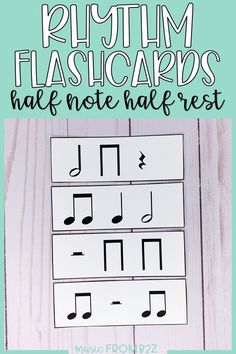 Rhythm Flashcards - Half Note and Half Rest My Teacher, Teacher Stuff, Music Flashcards, Critical Thinking Skills, Early Finishers, Teacher Organization, Student Reading, Elementary Music, Music Classroom