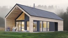 Amazing Simple and Elegant Koia Modern Cabin from Norgeshus - Architecture Small Modern House Plans, Modern Barn House, Barn House Plans, Small Modern Cabin, Small Modern House Exterior, Small Barn Home, Modern Cabin Interior, Modern Cabins, Cabin Plans