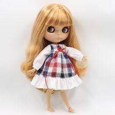 "Takara 12/"" Blythe Neo  Dark skin nude doll form factory   23#"