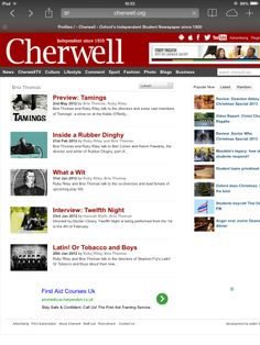 Video content arranged, recorded and edited for Cherwell