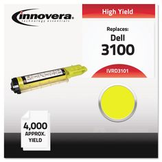 Compatible With 310-5729 (3100) Toner, 4000 Yield, Yellow