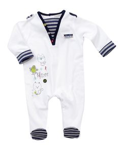 Embroidered Detail All In One - Up To 50% Off Boys Clothes - Mamas & Papas