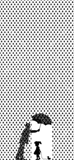 Jonathan Foley | black and white -Poster example for kindness - using shape, space and pattern