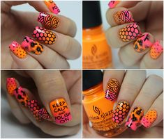 China Glaze Glow With The Flow, Home Sweet House Music ; Konad Black ; BPS 29 ; MoYou Pro XL 02 ; Uber Chic 1-01 ; 3/28/15