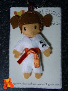 Taekwondo, Custom felt doll ,key chain