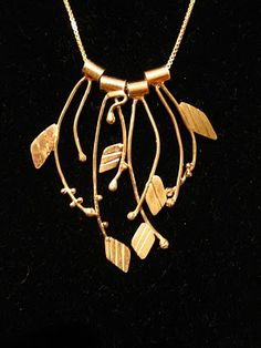 """""""Hush, Like the Sound of the Vines"""" necklace by Avital Lang"""