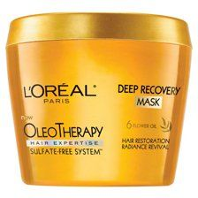 L'Oreal Paris Hair Expertise Oleo Thera Deep Recovery Mask 8.5 oz. (Pack of 6) >>> Click on the image for additional details.