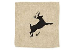 Party - Christmas and Winter Parties - S/6 Deer Head Cocktail Napkins, Gift Box on OneKingsLane.com $49
