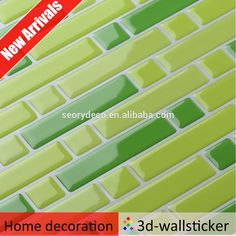 High quality oil-proof removable vinyl decorative wall tile for kitchen walls