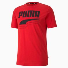 PRODUCT STORY In classic colors, with dropped shoulders for improved flexibility and bold PUMA branding, the Rebel Bold Tee kicks casual up a notch. FEATURES BENEFITS BCI: PUMA partners with Better Cotton Initiative to improve cotton farming gl. Rebel, Puma Outfit, Puma Shirts, Herren T Shirt, Mens Tees, Casual, Crew Neck, Streetwear Men, Tops