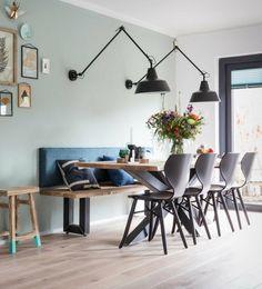 15 Dining Room Ideas By Top Interior Designers From England Dining Nook, Dining Room Lighting, Dining Room Design, Interior Design Living Room, Modern Interior, Bar Interior, Wall Lighting, Lighting Ideas, Lighting Design