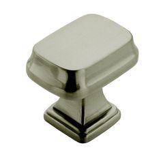 Revitalize 1-1/4 in. Satin Nickel Rectangle Cabinet Knob