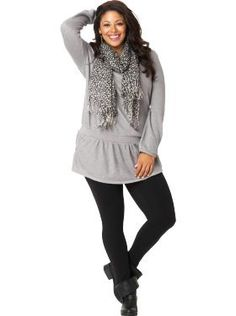 Old Navy - love the tunic and scarf combo