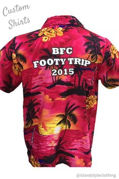 Your Logo - Your design - Your face - Your party - Your shirt. We create and supply custom designed shirts and shorts for your next group, family or corporate event. Or we can add your logo. #customshirts #customhawaiianshirts #corporateshirts #eventshirts #festivalshirts #uniforms #groups #corporate #tourshirts #promotionalshirts #wholesale #wholesaleshirts #groupmatching #matchymatchy #footy #footyshirts #clubshirts