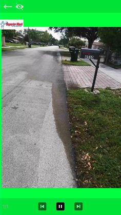All Water Recovered Oil Spill Clean Up, Green Leaves, Sidewalk, Environment, Cleaning, Water, Gripe Water, Side Walkway, Walkway